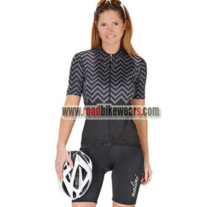 2017 Team Nalini Women s Biking Clothing Cycle Jersey and Padded Shorts  Roupas Bicicleta Grey Black 1e8d30f44