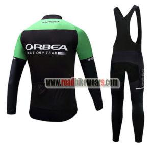 2017 Team ORBEA Riding Long Bib Suit Black Green