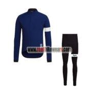 2017 Team Rapha Cycling Long Suit Blue