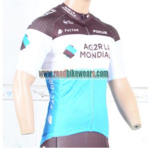2018 Team AG2R LA MONDIALE Cycle Clothing Biking Jersey Top Shirt Maillot  Cycliste Blue Brown 260cc5425