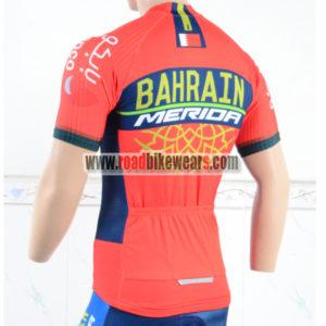 2018 Team BAHRAIN MERIDA Biking Jersey Shirt Red