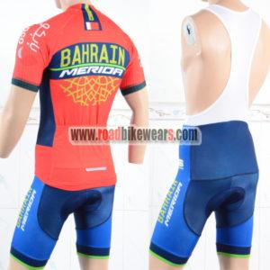 2018 Team BAHRAIN MERIDA Riding Bib Kit Red Blue
