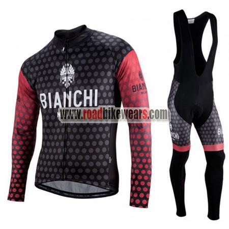 2019 Bianchi Warm Winter Thermal Fleece Cycling Jersey long Bib Pants Bicycle