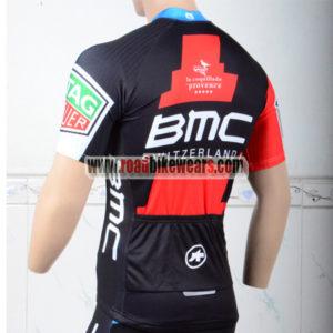 2018 Team BMC Biking Jersey Shirt Red Black