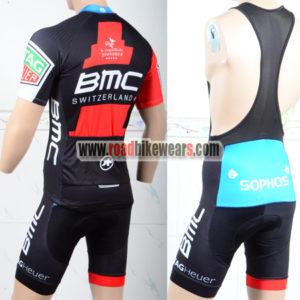 2018 Team BMC Riding Bib Kit Red Black
