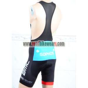 2018 Team BMC Riding Bib Shorts Bottoms Black Red Blue