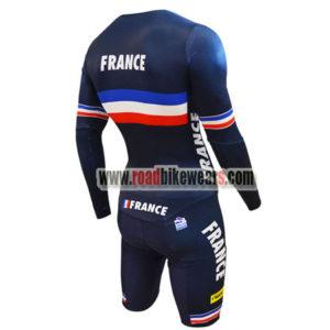 2018 Team France Riding Skinsuit Blue