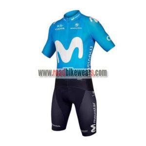 2018 Team Movistar Cycling Kit Blue Black 6b54366ad