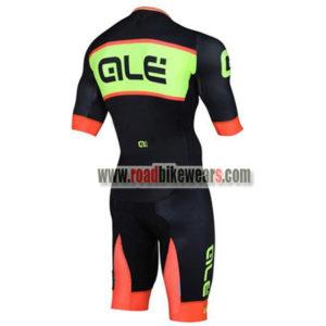 2018 Team QLE Biking Skinsuit Black Orange Green