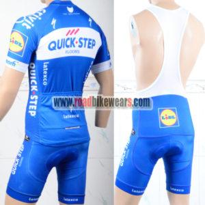 2018 Team QUICK STEP Riding Bib Kit Blue