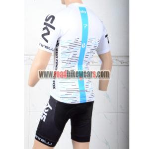2018 Team SKY Bike Kit White Blue