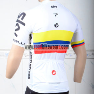 2018 Team SKY Bike Riding Jersey Shirt White