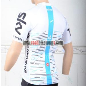 2018 Team SKY Biking Jersey Shirt White Blue