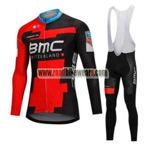 2018 Team BMC Cycling Long Bib Suit Black Red 095c6bbcf