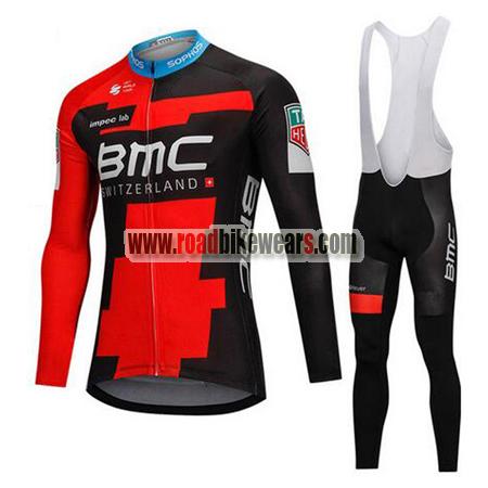 2018 Team BMC Winter Riding Wear Thermal Fleece Biking Long Sleeves ... 81457569d