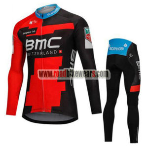 834372461 2018 Team BMC Winter Cycle Apparel Thermal Fleece Biking Long Jersey and  Padded Pants Tights Roupas De Ciclismo Red Black