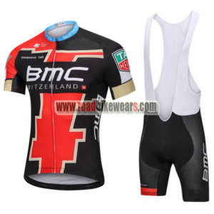 b867bb6a7 2018 Team BMC Biking Apparel Cycle Jersey and Padded Bib Shorts Roupas  Bicicleta Red Black