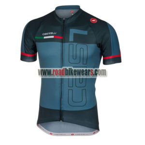 2018 Team Castelli Cycling Jersey Maillot Shirt Blue eb736e8ab