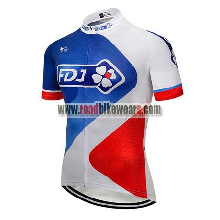 2018 Team FDJ Cycle Outfit Biking Jersey Top Shirt Maillot Cycliste ... cb466b5c8