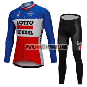 7625c77ab 2018 Team LOTTO SOUDAL Cycling Long Suit Blue White Red ...