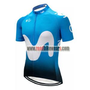2018 Team Movistar Cycling Jersey Maillot Shirt Blue ... 6b632c5e2