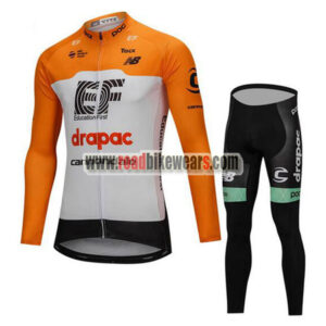 2018 Team Cannondale Winter Cycle Apparel Thermal Fleece Biking Long Jersey  and Padded Pants Tights Roupas De Ciclismo Yellow White 3236a5d1c