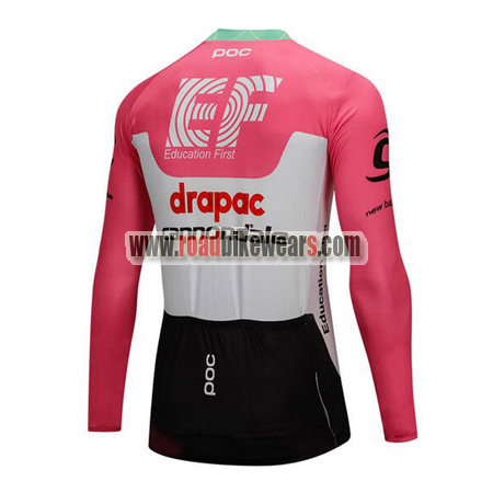 2018 Team drapac cannondale Cycle Outfit Biking Long Sleeves Jersey ... 38d748e9b