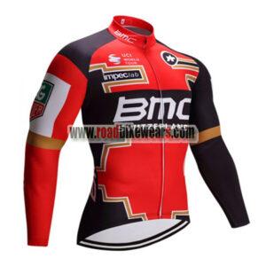 2017 Team BMC Cycle Long Jersey Red Black 2017 Team BMC Biking ... a800feaf2