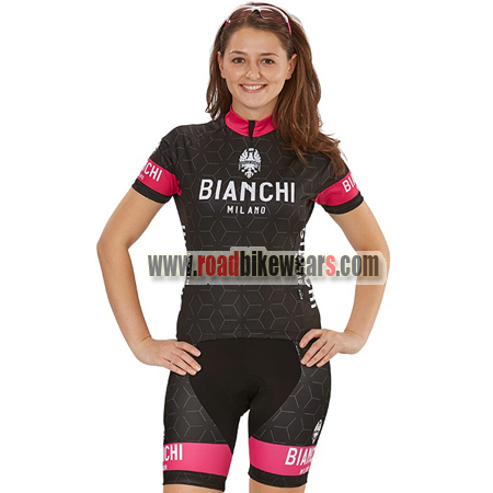 28223e4d9 2018 Team BIANCHI Women s Lady Riding Kit Black Pink2018 Team BIANCHI  Women s Lady Riding Kit Black