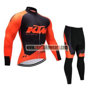 2018 Team KTM Cycling Long Suit Orange Black ... f13e7a6e7