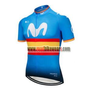 2018 Team Movistar Spain Cycling Jersey Maillot Shirt Blue ... 239d4b053
