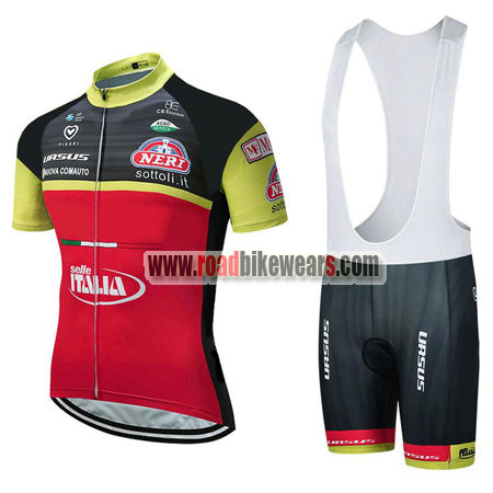 64bd1ed5b 2018 Team Wilier ITALIA Biking Outfit Cycle Jersey and Padded Bib ...