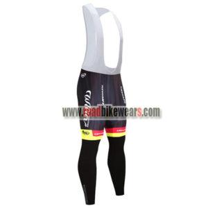 2018 Team Wilier ITALIA Cycling Bib Pants Tights Black Red Yellow ... 579910fd0