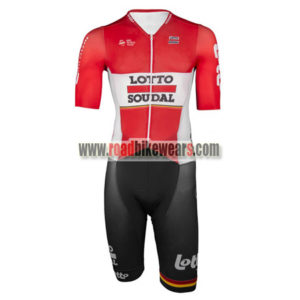 7eddb67f5 2016 Team LOTTO SOUDAL Cycle Skintight Apparel Racing Leotard One-piece  Tights Red White