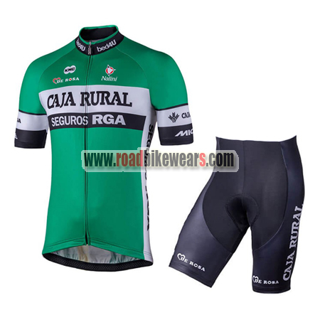 a5812e673 2018 Team CAJA RURAL Riding Wear Cycle Jersey and Padded Shorts ...