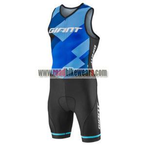 2018 Team GIANT Cycling Skin Suit Speedsuit Triathlon Blue Black ... b078e14dc