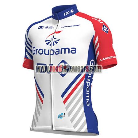 2018 Team Groupama FDJ Cycle Outfit Biking Jersey Top Shirt Maillot ... 5445ab42a