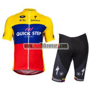 f766815c4 2018 Team QUICK STEP Ecuador Champion Riding Kit