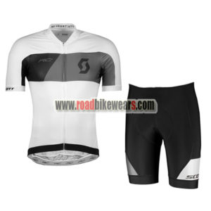 2018 Team SCOTT Riding Wear Cycle Jersey and Padded Shorts Roupas Bicicleta  White Black a38c1e785