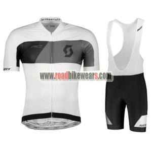 4bbca06a1 2018 Team SCOTT Biking Apparel Cycle Jersey and Padded Bib Shorts Roupas  Bicicleta White Black