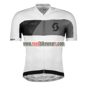 685b3ee50 2018 Team SCOTT Cycling Jersey Maillot Shirt White Black ...