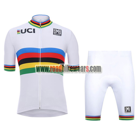 2018 Team Santini UCI Champion Riding Wear Cycle Jersey and Padded ... 48575f41a