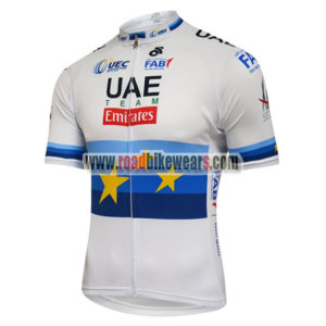 ... 2018 Team UAE Emirates European Champion Cycling Jersey Shirt White 9ffc0154b