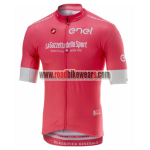 2018 Team Castelli LaGazzettadello Sport Tour de Italia Cycling Jersey Shirt  Pink ... 2d4d97f01
