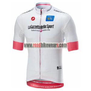 2018 Team Castelli LaGazzettadello Sport Tour de Italia Racing Jersey Shirt  White ... 8c37ff4ad