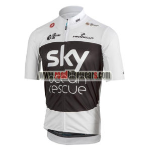 2018 Team SKY Castelli Ocean Rescue Cycling Jersey Maillot Shirt White  Black ... 705f5ef5f