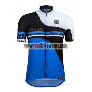 8d8587054 2017 Team Santini airform Cycling Jersey Maillot Shirt Blue Black ...