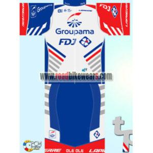 2018 Team Groupama FDJ Riding Uniform Cycle Jersey and Padded Shorts Pants  Roupas Bicicleta c06091630