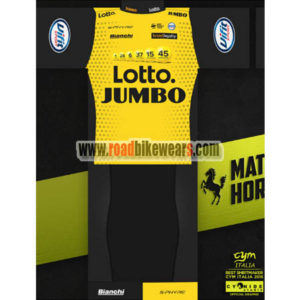 75e5d6336 2018 Team LOTTO JUMBO Riding Uniform Cycle Jersey and Padded Shorts Pants  Roupas Bicicleta Yellow Black