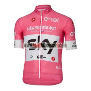 4194b52b2 2018 Team SKY Castelli LaGazzettadello Sport enel Cycle Apparel Biking  Jersey Top Shirt Maillot Cycliste Pink
